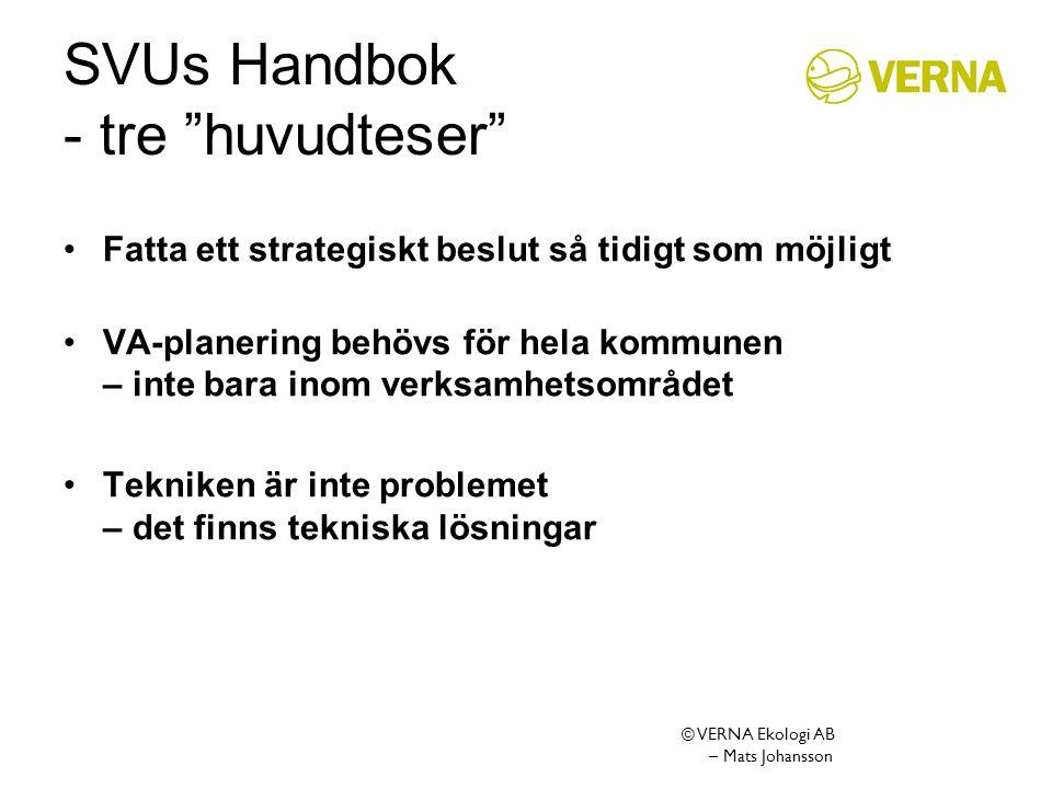 SVUs Handbok - tre huvudteser