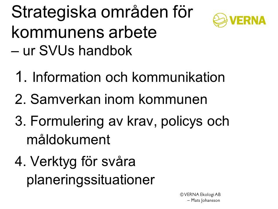 Strategiska områden för kommunens arbete – ur SVUs handbok