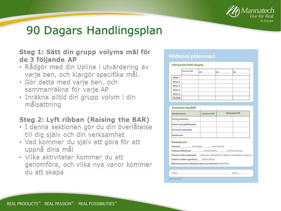 90 Dagars Handlingsplan Steg 1: Sätt din grupp volyms mål för de 3 följande AP.