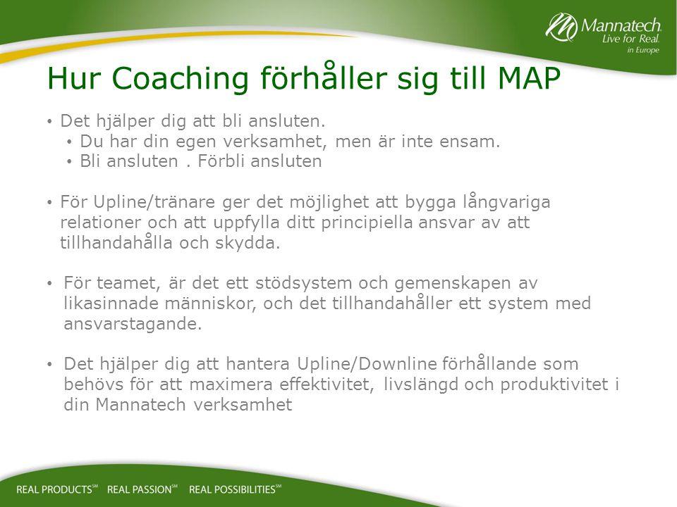 Hur Coaching förhåller sig till MAP