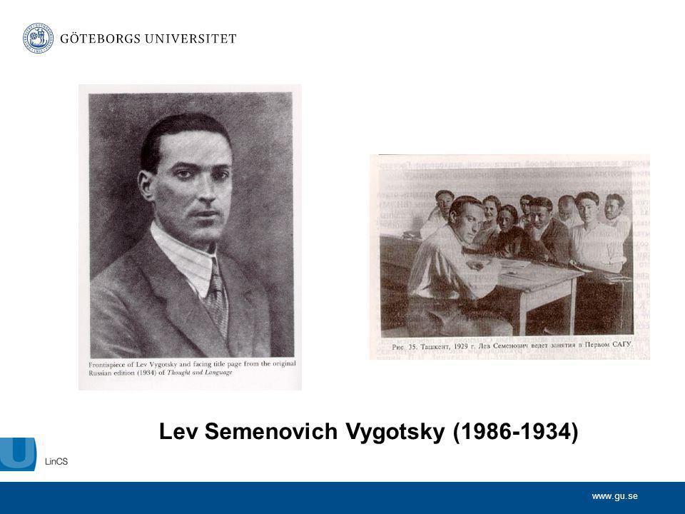 Lev Semenovich Vygotsky (1986-1934)