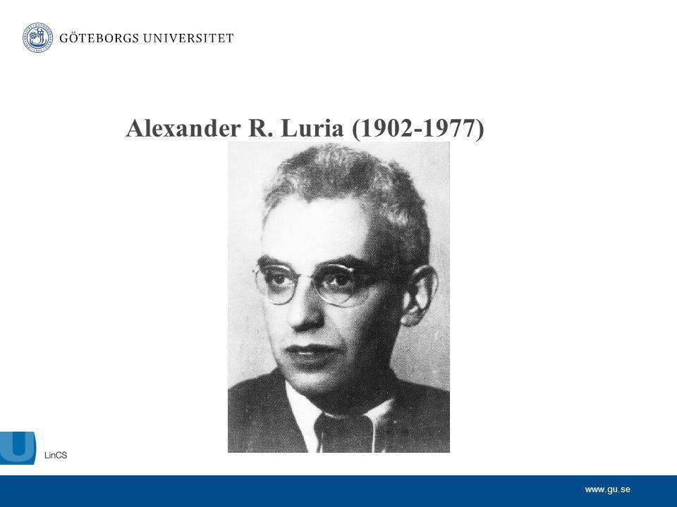 Alexander R. Luria (1902-1977)