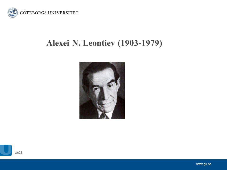 Alexei N. Leontiev (1903-1979)