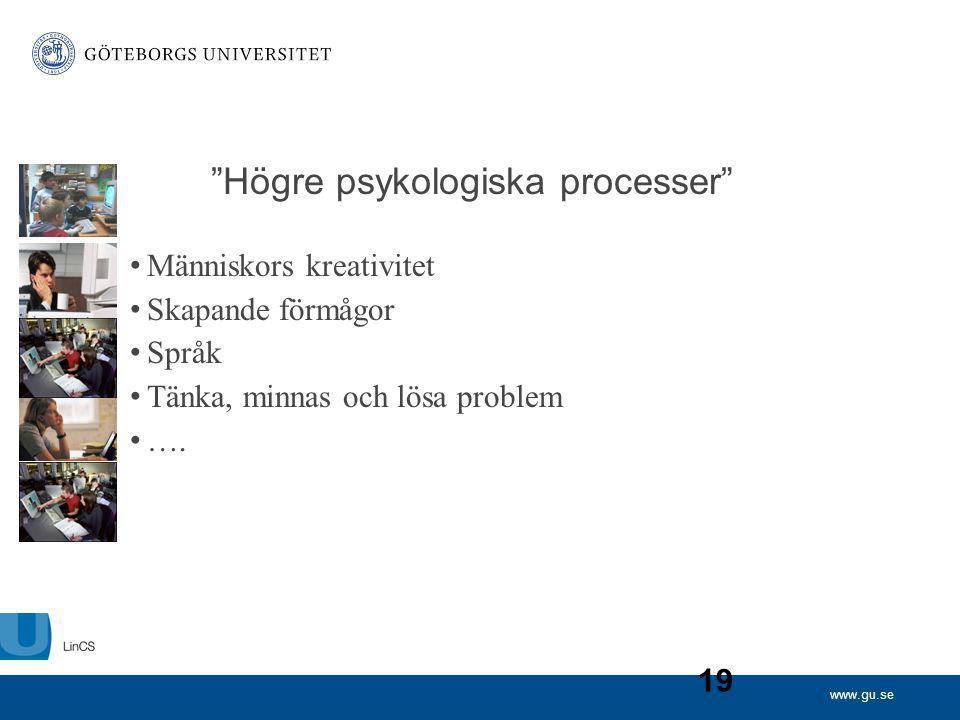 Högre psykologiska processer