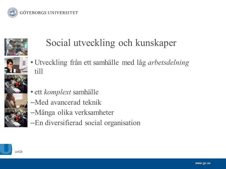 Social utveckling och kunskaper