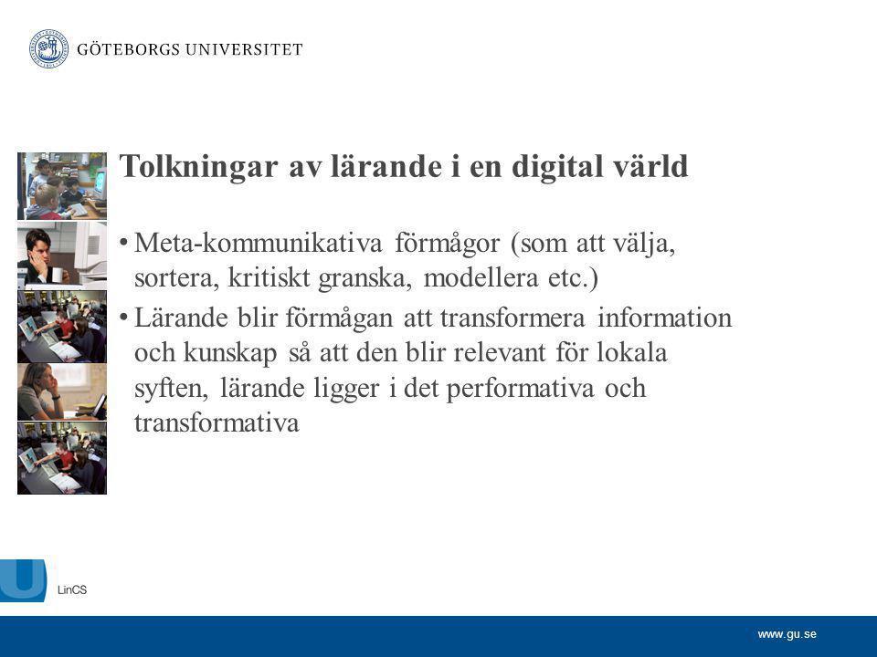 Tolkningar av lärande i en digital värld