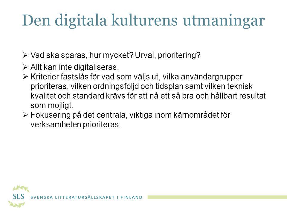 Den digitala kulturens utmaningar