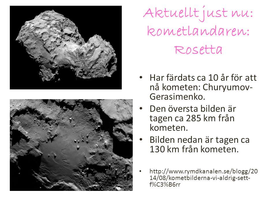 Aktuellt just nu: kometlandaren: Rosetta