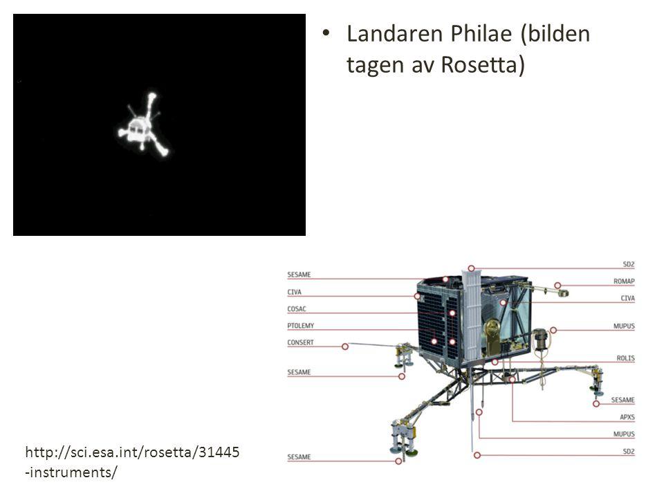 Landaren Philae (bilden tagen av Rosetta)