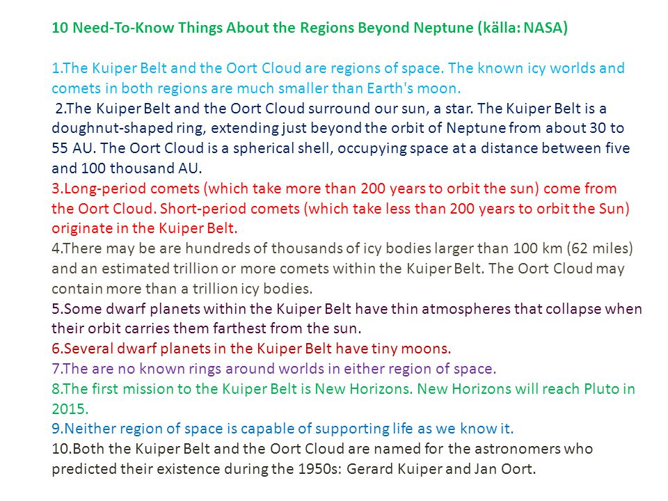 10 Need-To-Know Things About the Regions Beyond Neptune (källa: NASA)
