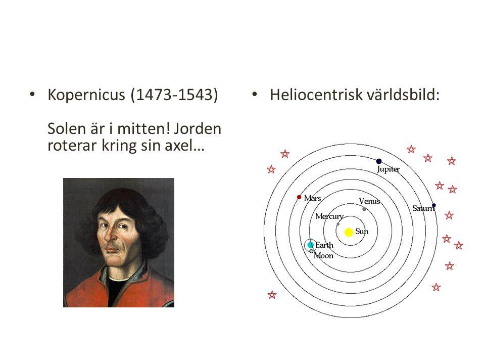 Kopernicus (1473-1543) Solen är i mitten