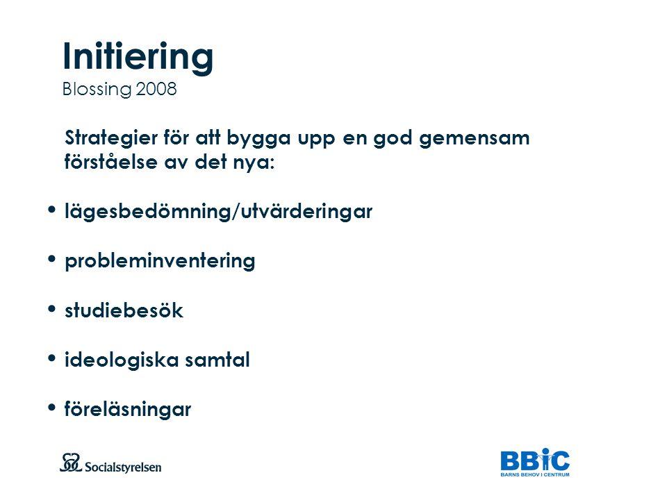 Initiering Blossing 2008 lägesbedömning/utvärderingar