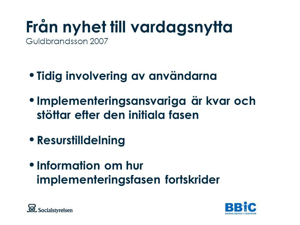 Från nyhet till vardagsnytta Guldbrandsson 2007