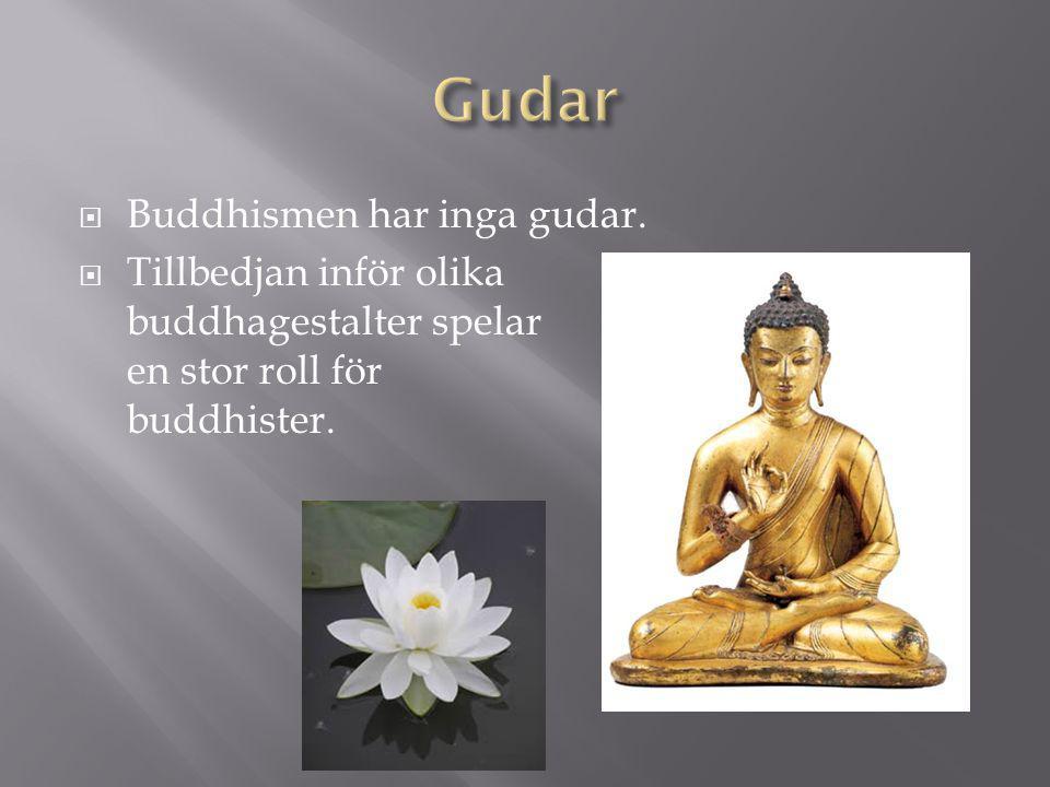 Gudar Buddhismen har inga gudar.
