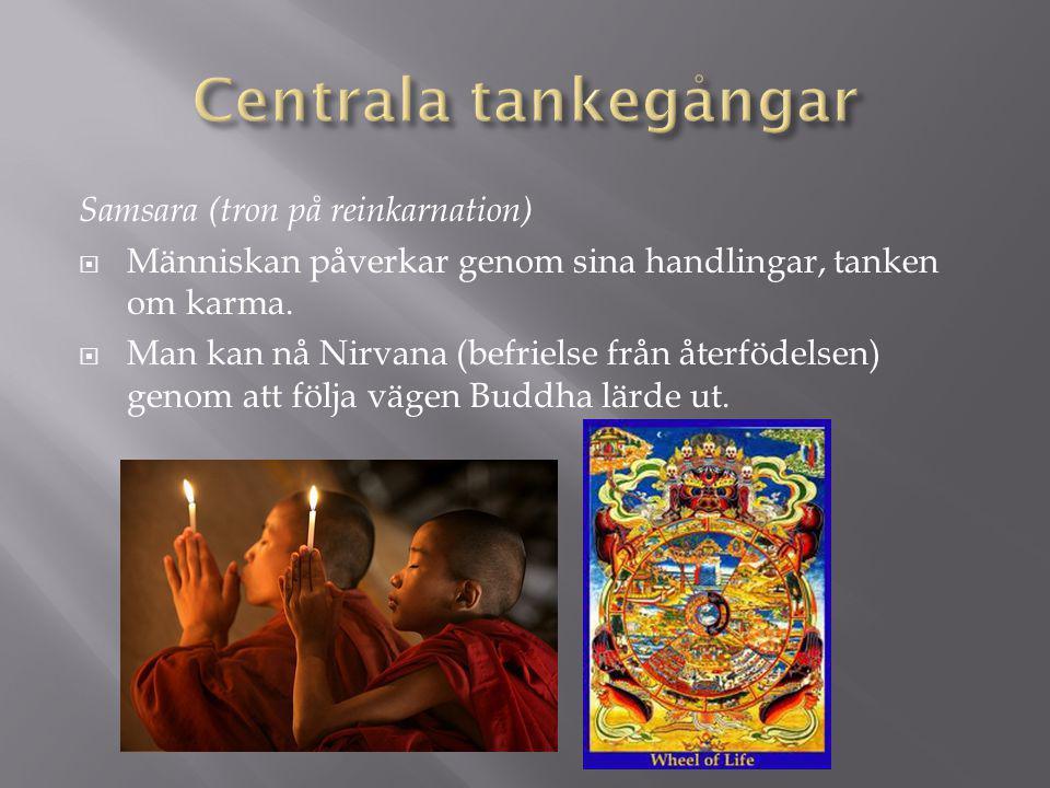 Centrala tankegångar Samsara (tron på reinkarnation)