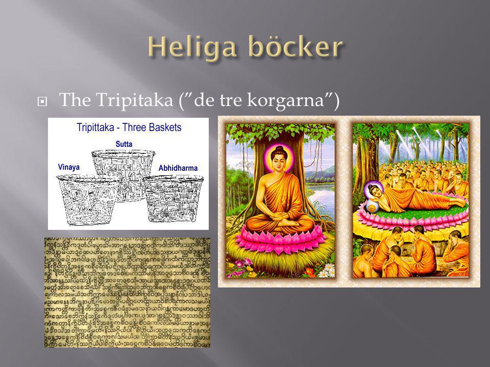 Heliga böcker The Tripitaka ( de tre korgarna )