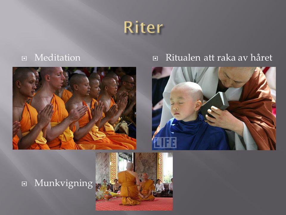 Riter Meditation Munkvigning Ritualen att raka av håret