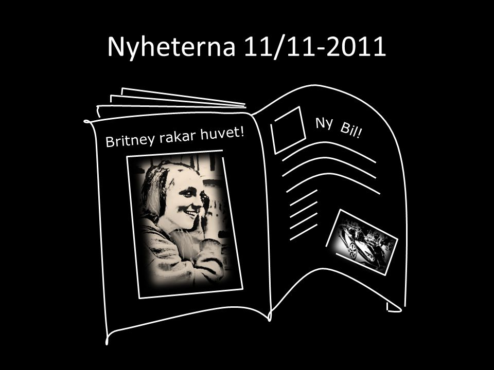 Nyheterna 11/11-2011 Ny Bil! Britney rakar huvet!