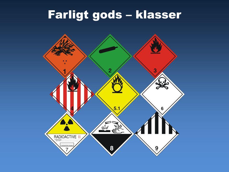 Farligt gods – klasser FLIK 8