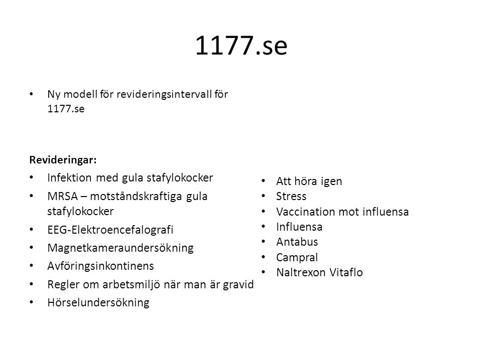 1177.se Infektion med gula stafylokocker