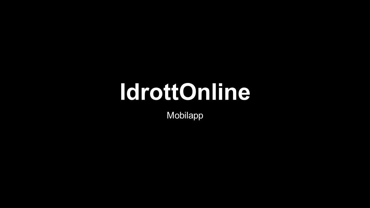 IdrottOnline Mobilapp