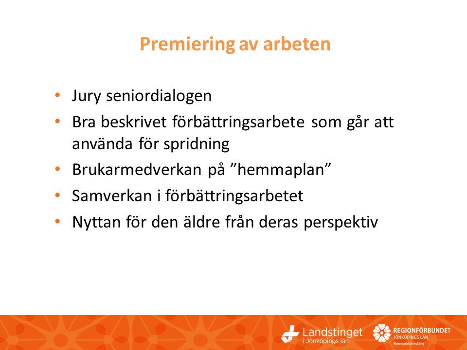 Premiering av arbeten Jury seniordialogen