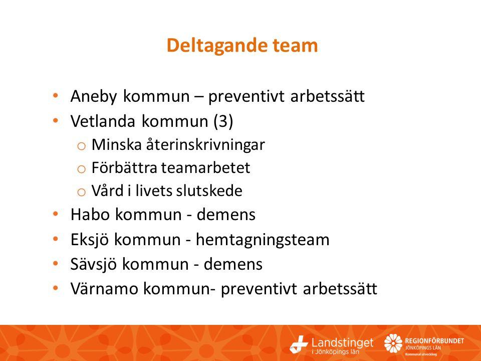 Deltagande team Aneby kommun – preventivt arbetssätt