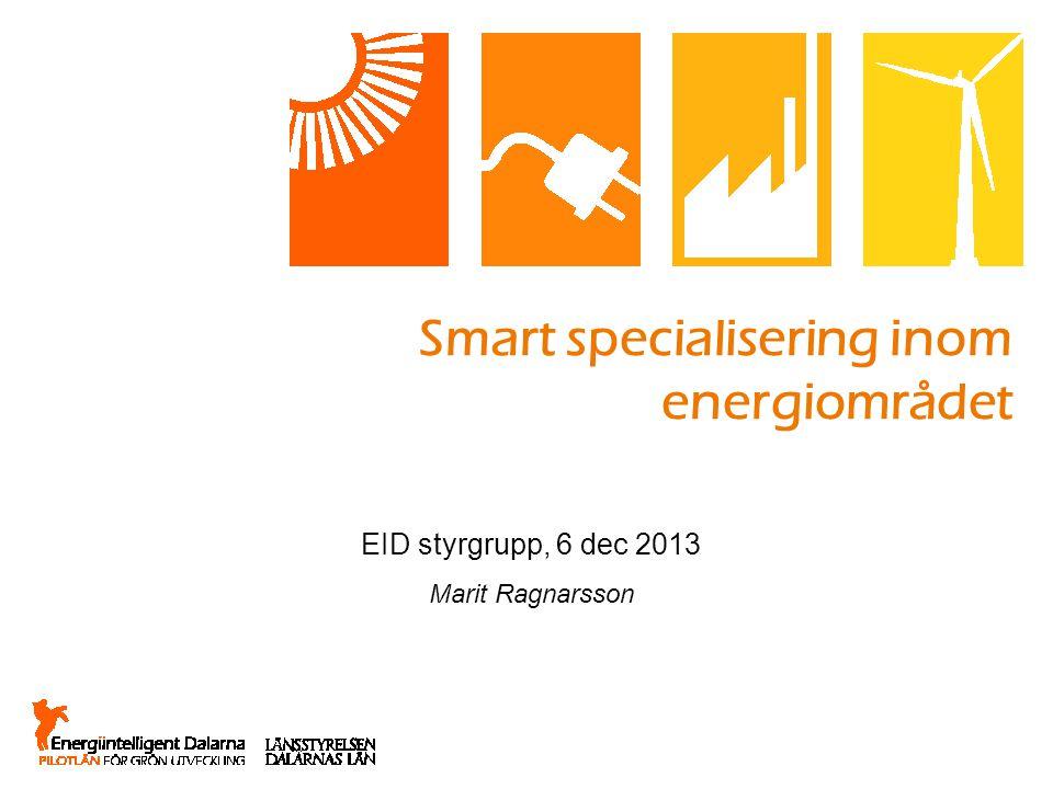 Smart specialisering inom energiområdet