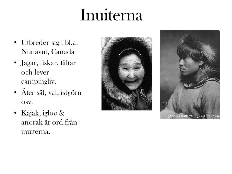 Inuiterna Utbreder sig i bl.a. Nunavut, Canada
