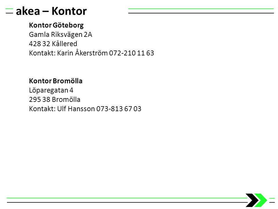 akea – Kontor Kontor Göteborg Gamla Riksvägen 2A 428 32 Kållered