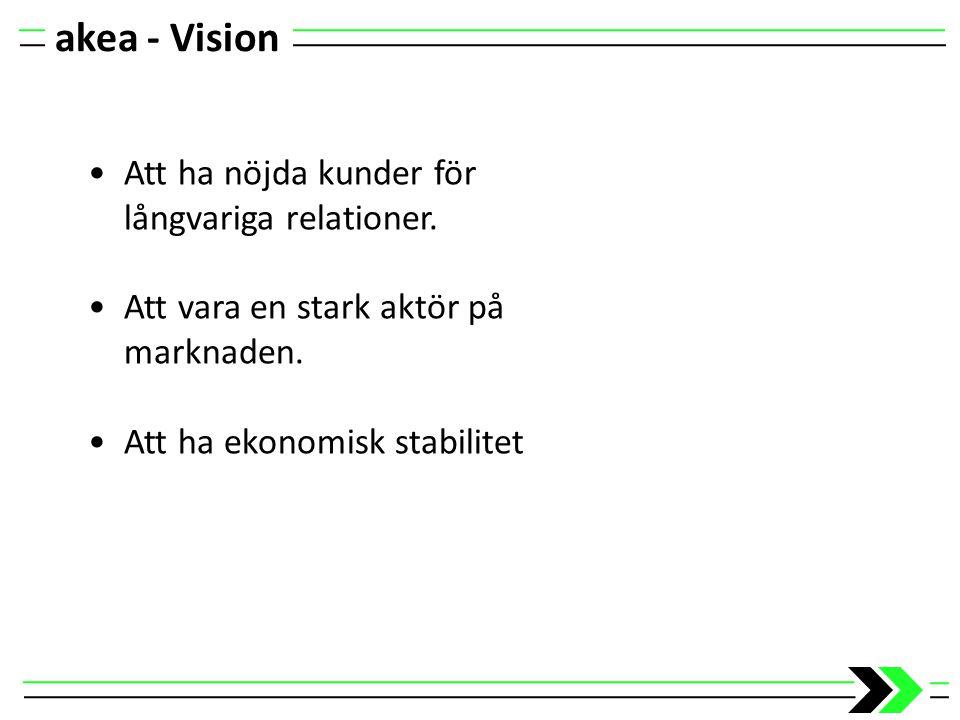akea - Vision Att ha nöjda kunder för långvariga relationer.