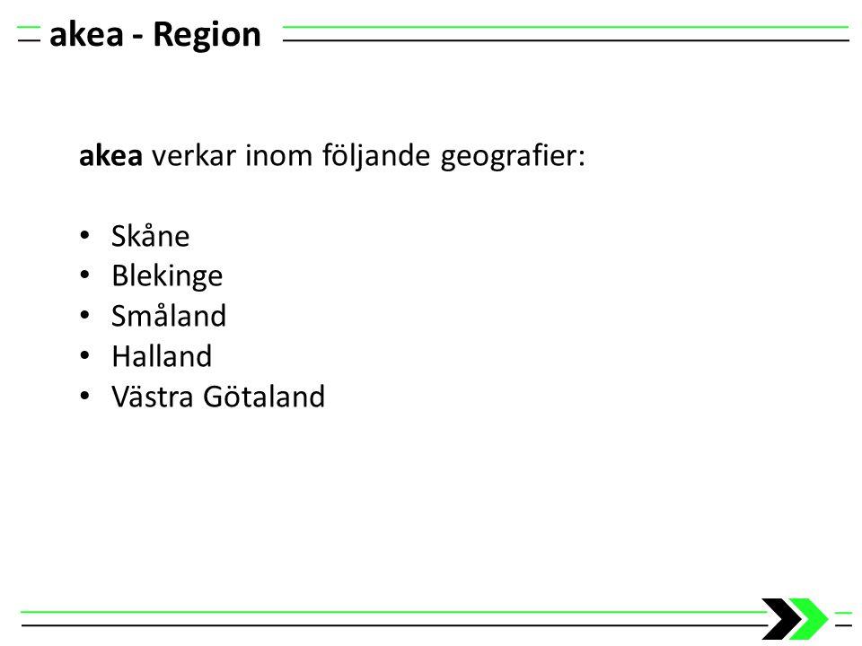 akea - Region akea verkar inom följande geografier: Skåne Blekinge