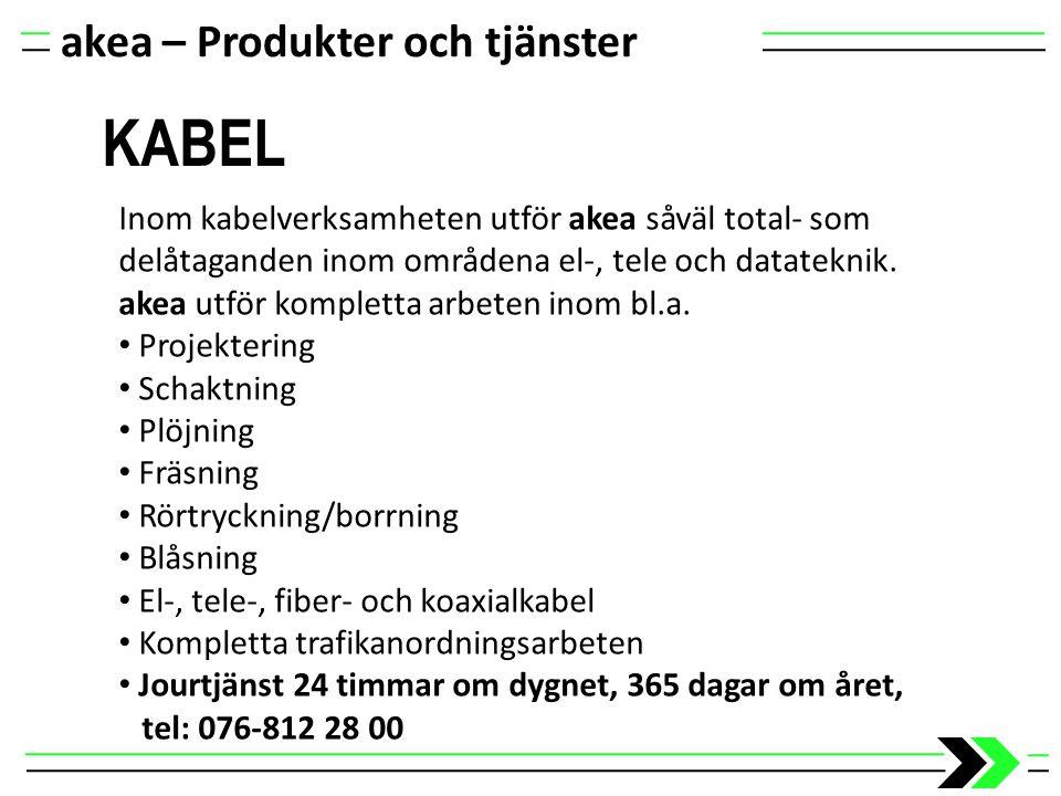 KABEL akea – Produkter och tjänster