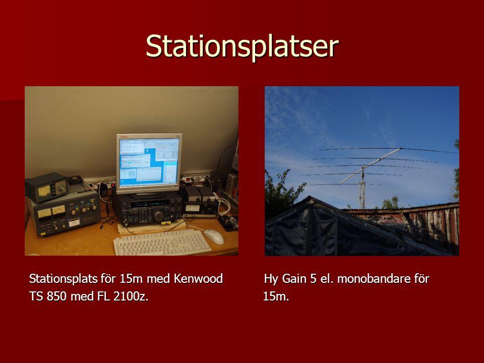Stationsplatser Stationsplats för 15m med Kenwood Hy Gain 5 el.