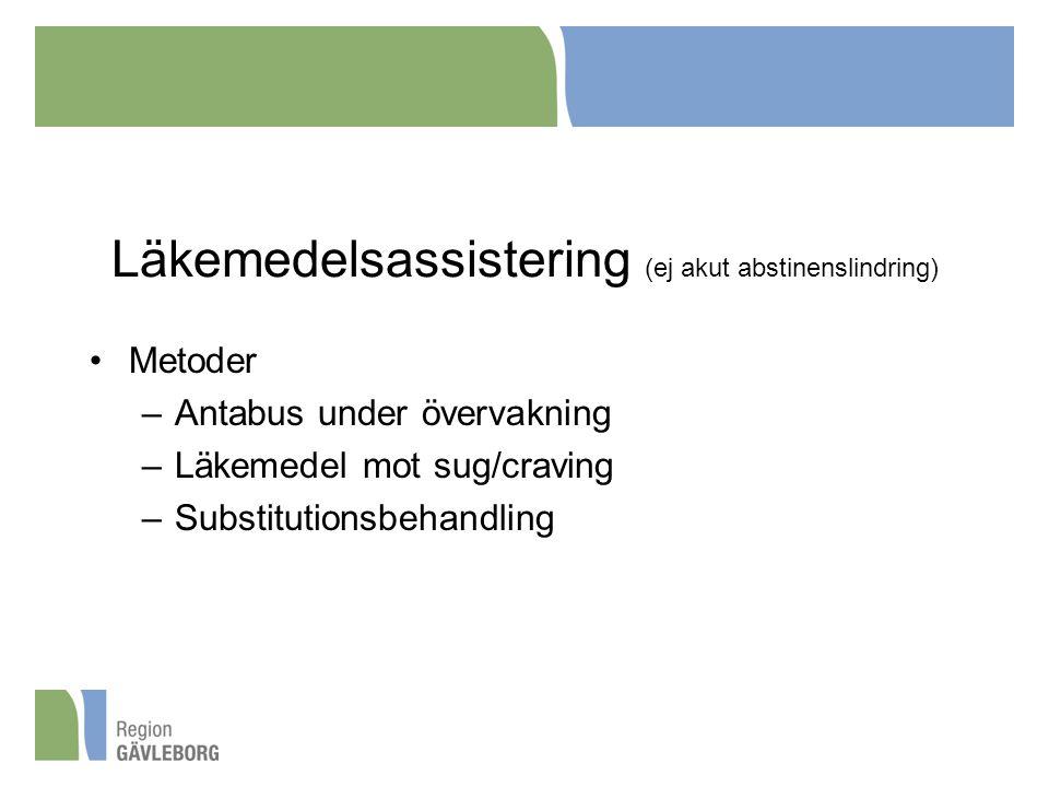 Läkemedelsassistering (ej akut abstinenslindring)