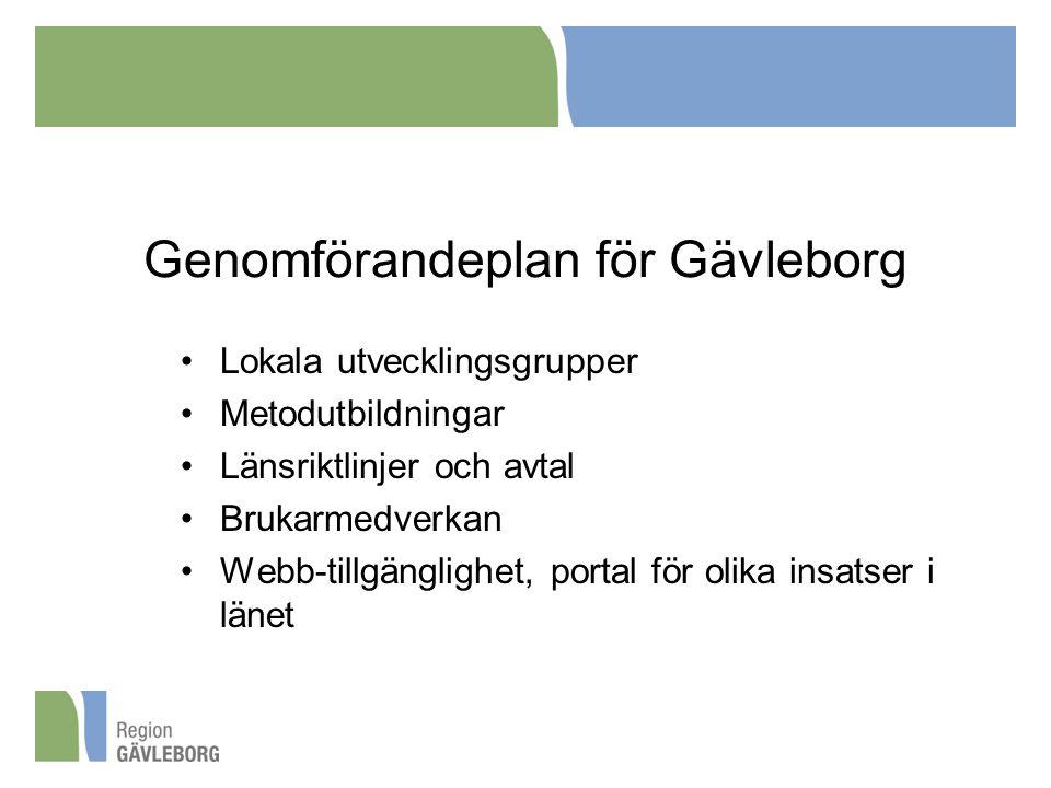 Genomförandeplan för Gävleborg
