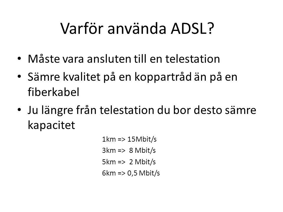 Varför använda ADSL Måste vara ansluten till en telestation