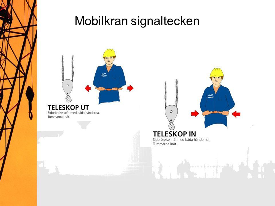 Mobilkran signaltecken