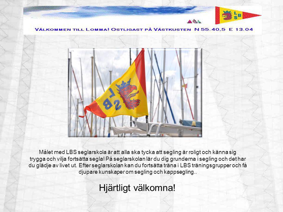 Målet med LBS seglarskola är att alla ska tycka att segling är roligt och känna sig