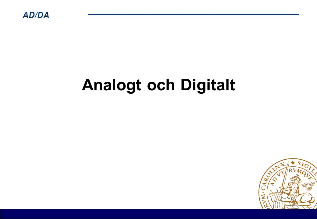 Analogt och Digitalt
