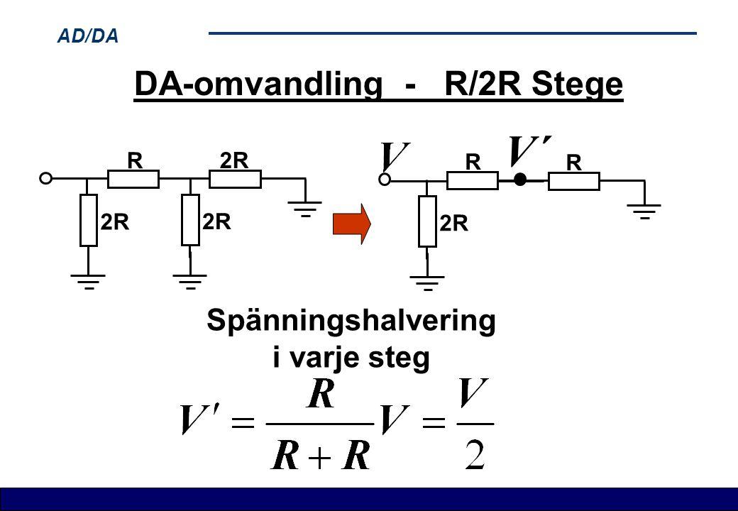 DA-omvandling - R/2R Stege