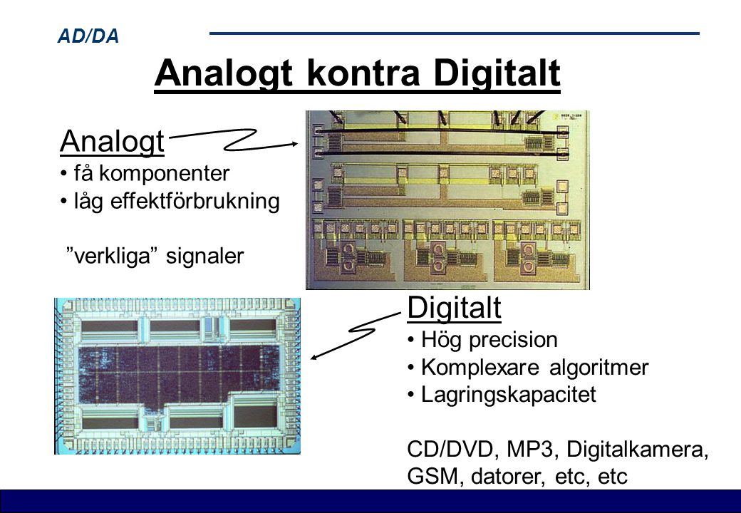 Analogt kontra Digitalt
