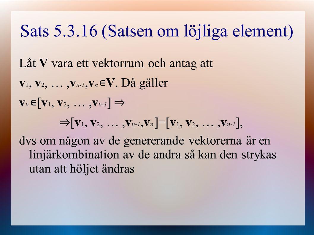 Sats 5.3.16 (Satsen om löjliga element)
