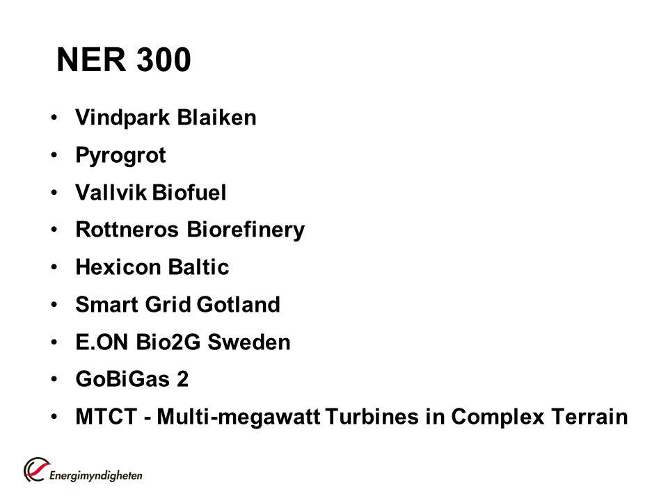 NER 300 Vindpark Blaiken Pyrogrot Vallvik Biofuel