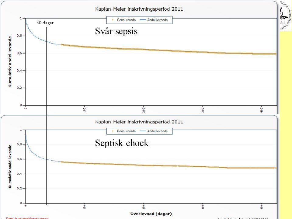 30 dagar Svår sepsis Septisk chock