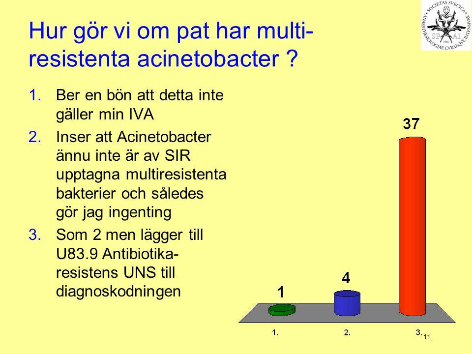 Hur gör vi om pat har multi-resistenta acinetobacter