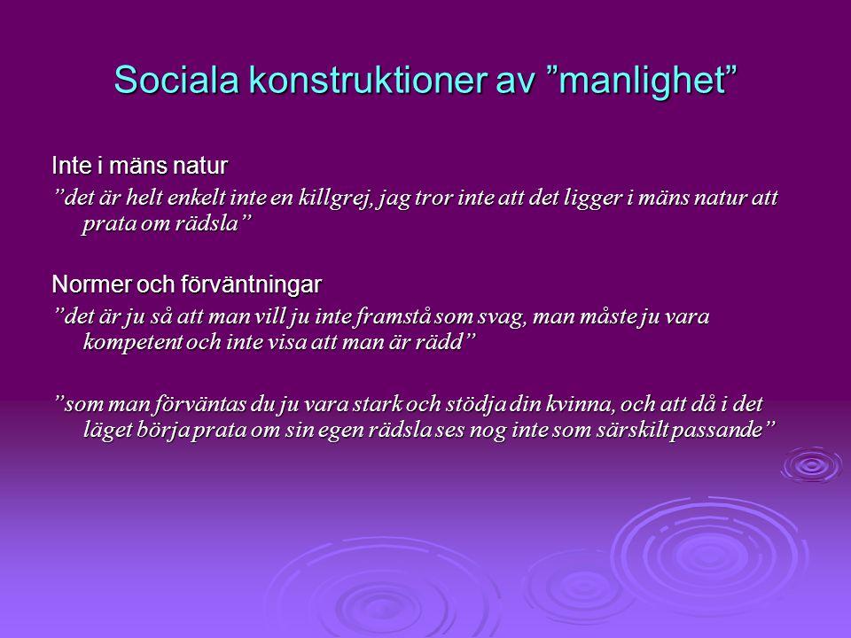 Sociala konstruktioner av manlighet