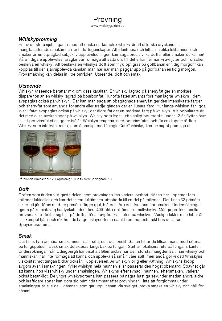 Provning www.whiskyguiden.se