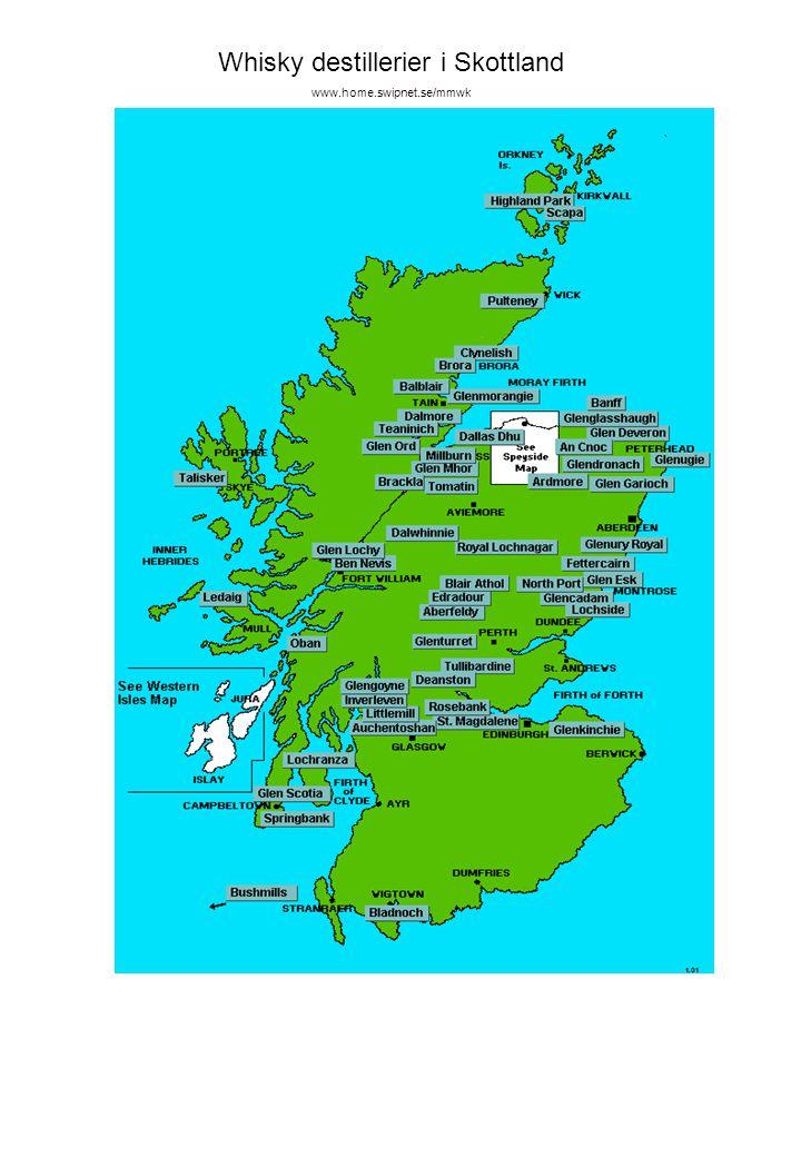 Whisky destillerier i Skottland