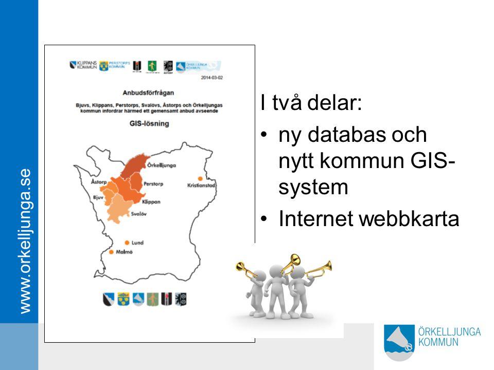 ny databas och nytt kommun GIS-system